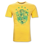 Brazil National Team Core Cotton T-Shirt (Gold)