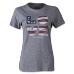 Life is Good Women's Stars Stripes Love T-Shirt (Gray)