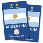 Argentina World Cup Champs Poster (Set of 2)