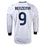 Real Madrid 12/13 BENZEMA LS Home Soccer Jersey