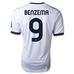 Real Madrid 12/13 BENZEMA UCL Home Soccer Jersey