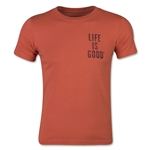 Life is Good Boys XL Soccer Player T-Shirt (Orange)