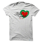 Objectivo Women's Mexico Heart Soccer T-Shirt (White)