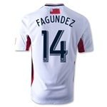 New England Revolution 2014 FAGUNDEZ Authentic Secondary Soccer Jersey