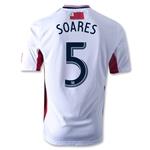 New England Revolution 2013 SOARES Authentic Secondary Soccer Jersey