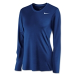 Nike Women's Long Sleeve Legend Shirt (Royal)