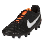 Nike Tiempo Flight FG Cleats (Black/White/Total Orange)