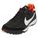 Nike Tiempo Mystic IV TF Turf Shoes (Black/White/Total Orange)