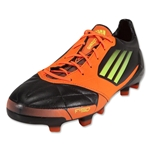 adidas F50 adizero TRX FG Leather Cleats (Black/Electricity/Warning)