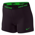 Nike Women's Pro 5 Compression Short II (Blk/Green)