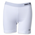 Nike Women's Pro 5 Compression Short II (White)