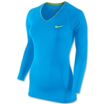Nike Women's Pro Long Sleeve T-Shirt (Blue)