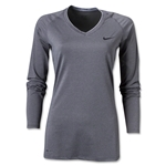 Nike Women's Pro Long Sleeve T-Shirt (Dk Grey)