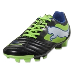 PUMA PowerCat 3.12 FG Junior (Black/Jasmine Green/Monaco Blue)