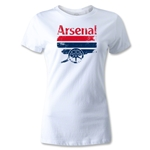 Arsenal Distressed Graphic Women's T-Shirt (White)