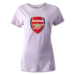 Arsenal Crest Women's T-Shirt (Pink)