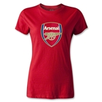Arsenal Crest Women's T-Shirt (Red)