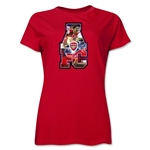 Arsenal AFC Celebration Women's T-Shirt (Red)