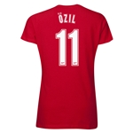 Arsenal Ozil 11 Women's T-Shirt (Red)