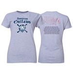 American Outlaws 150 Chapters Women's T-Shirt (Gray)
