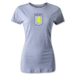 Aston Villa Women's Distressed T-Shirt (Gray)
