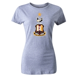 Bradford City Women's Crest T-Shirt (Gray)