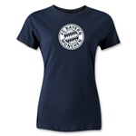 Bayern Munich Distressed Logo Women's T-Shirt (Navy)