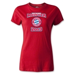 Bayern Munich 2013 Women's Deutscher Meister T-Shirt (Red)