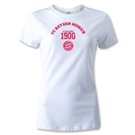 Bayern Munich Distressed Established 1900 Women's T-Shirt (White)