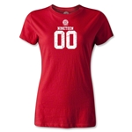 Bayern Munich Distressed 1900 Women's T-Shirt (Red)