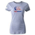 USA Rugby Women's Stars and Stripes T-Shirt (Gray)