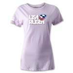 USA Rugby Women's Logo T-Shirt (Pink)