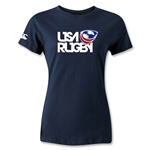 USA Rugby Women's Logo T-Shirt (Navy)