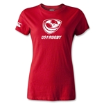USA Rugby Women's Supporter T-Shirt (Red)