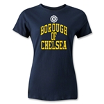 Chelsea Borough Women's Distressed Soccer T-Shirt (Navy)