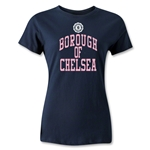 Chelsea Borough Women's Distressed T-Shirt (Navy)