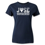 Chelsea Jose Mourinho Women's Distressed T-Shirt (Navy)
