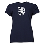 Chelsea Distressed Lion Women's T-Shirt (Navy)