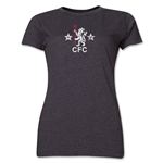 Chelsea Distressed Retro Women's T-Shirt (Dark Gray)