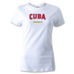 CONCACAF Gold Cup 2013 Women's Cuba T-Shirt (White)