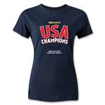 USA CONCACAF Gold Cup 2013 Champions Women's T-Shirt (Navy)