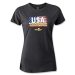 USA CONCACAF Gold Cup 2013 Champions Women's T-Shirt (Dark Gray)