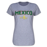Mexico CONCACAF Gold Cup 2015 Women's Big Logo T-Shirt (Grey)