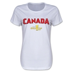 Canada CONCACAF Gold Cup 2015 Women's Big Logo T-Shirt (White)