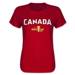 Canada CONCACAF Gold Cup 2015 Women's Big Logo T-Shirt (Red)