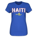 Haiti CONCACAF Gold Cup 2015 Women's Big Logo T-Shirt (Royal)