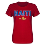 Haiti CONCACAF Gold Cup 2015 Women's Big Logo T-Shirt (Red)