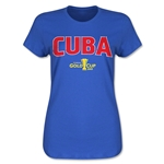 Cuba CONCACAF Gold Cup 2015 Women's Big Logo T-Shirt (Royal)