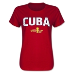 Cuba CONCACAF Gold Cup 2015 Women's Big Logo T-Shirt (Red)