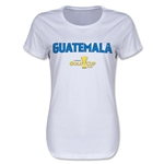 Guatemala CONCACAF Gold Cup 2015 Women's Big Logo T-Shirt (White)